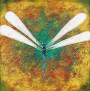 Sale 8755 - Lot 582 - Kym Hart (1965 - ) - Dragonfly 38.5 x 38.5cm