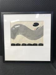 Sale 8953 - Lot 2039 - Artist Unknown Abstract I ink and wash on mulberry paper, 67 x 67cm (frame), signed and stamp seal