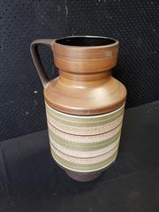 Sale 9039 - Lot 1001 - Vintage German Fish Scale Pottery Vase (h:51cm)