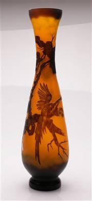 Sale 9049 - Lot 44 - Reproduction Galle Style Vase H:53cm