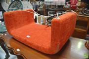 Sale 8287 - Lot 1100 - Danish ME & U Upholstered Soft Line Indoor Swing in Orange