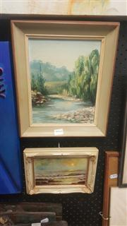 Sale 8433 - Lot 2066 - Framed Small Oil Paintings (2)