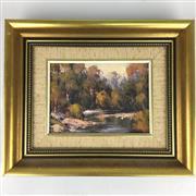 Sale 8649R - Lot 53 - Verner Filpich - Oil on Board (16.5 x 11cm)