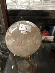 Sale 8819 - Lot 2317 - Quartz Crystal Sphere on stand