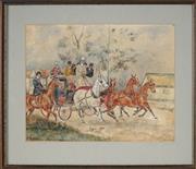 Sale 8914 - Lot 2060 - W.M Garling (C20th) - Stagecoach, 1921 25 x 32 cm