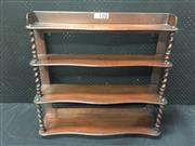 Sale 9051 - Lot 1033 - Mahogany Hanging Shelf