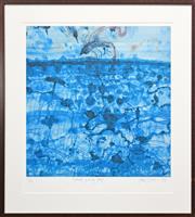 Sale 8301A - Lot 49 - John Olsen (1928 - ) - Sunbird & Lily Pond 65 x 61.5cm