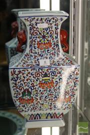 Sale 8285 - Lot 8 - Wucai 4 Sided Vase