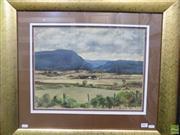 Sale 8557 - Lot 2007 - Jean Derrin (1904 - 1999) - Black Jack Mountain, Gunnedah 33 x 44.5cm (frame size: 62.5 x 73cm)