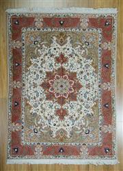 Sale 8625C - Lot 75 - Super Fine Persian Tabriz Silk Inlaid 205cm x 150cm