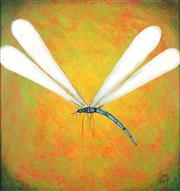 Sale 8755 - Lot 583 - Kym Hart (1965 - ) - Dragonfly 40.5 x 38.5cm