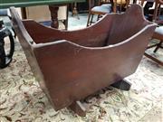 Sale 8792 - Lot 1063 - An antique possibly cedar and pine rocking cradle, H 69 x L 95cm