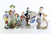 Sale 8890 - Lot 50 - A Small Group of Porcelain Continental Figures