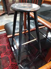 Sale 8934 - Lot 1025 - Pair of Timber Bar Stools