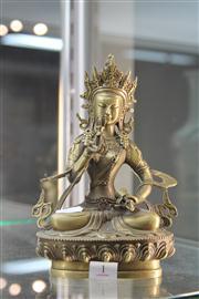 Sale 8285 - Lot 1 - Bronze Buddha Vajrasattva Figure