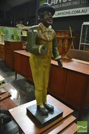 Sale 8338 - Lot 1077 - Timber Figure of a Man