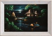Sale 8375A - Lot 68 - Artist Unknown - River Scene, Philippines 30 x 47 cm