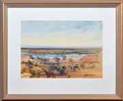 Sale 8408 - Lot 519 - John Leo Borrack (1933 - ) - Murray River Flats, Renmark, SA 54 x 74cm