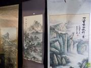 Sale 8557 - Lot 2094 - 3 Oriental Scrolls of Landscapes
