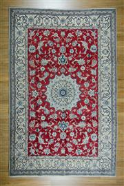 Sale 8625C - Lot 76 - Persian Nain Silk Inlaid 313cm x 205cm