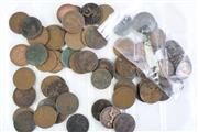 Sale 8835C - Lot 24 - A Tray of Copper Pennies, Mixed Grades
