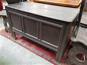 Sale 8868 - Lot 1116 - 17th Century Oak Chest, with moulded frame & stile feet