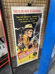 Sale 8888 - Lot 2084 - Vintage Movie Poster Bill: Chuck Connors in Ride Beyond Vengeance , printed by Robert Burton Pty Ltd Sydney