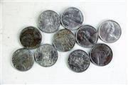 Sale 8968 - Lot 12 - 10 Round Fifty Cent Pieces
