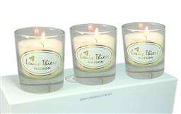 Sale 9126K - Lot 584 - Laguiole Maison Louis Thiers 3-piece candle set - Vanilla