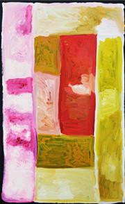Sale 8413A - Lot 5015 - Kudditji Kngwarreye (c1932 - 2017) - My Country 150 x 91cm (stretched & ready to hang)