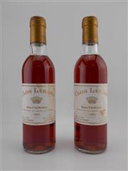 Sale 8479 - Lot 1826 - 2x 1983 Chateau Rieussec Clos Labere, Sauternes - 375ml