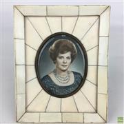 Sale 8649R - Lot 55 - Ivory Framed Miniature (H: 14.5)