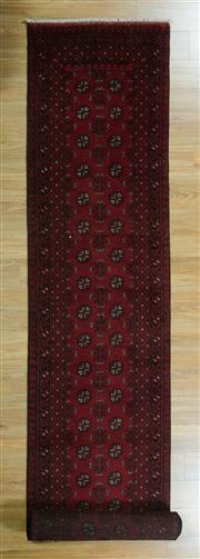 Sale 8625C - Lot 77 - Afghan Turkman Runner 480cm x  80cm