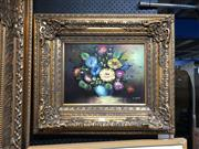 Sale 8853 - Lot 2076 - L. Kern - Still Life - Bouquet acrylic, 59 x 69cm, signed -