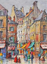 Sale 8992 - Lot 559 - Ellis Silas (1883 - 1972) - Paris Street Scene 27.5 x 20.5 cm (mount: 38.5 x 30.5 cm)