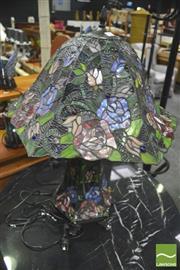 Sale 8392 - Lot 1065 - Leadlight Shade Tree Form Table Lamp