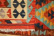 Sale 8445K - Lot 7 - Summer Afghan Tribal Kilim Rug , 199x85cm, Finely handwoven in Northern Afghanistan using high quality local wool. Vibrant summer co...