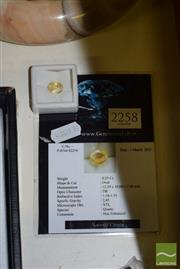 Sale 8509 - Lot 2258 - 6.2 Carat Faceted Certified Citrine