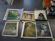 Sale 8600 - Lot 2083 - Roll of Paintings on Canvas
