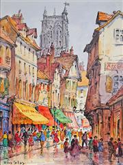 Sale 8992 - Lot 560 - Ellis Silas (1883 - 1972) - Paris Street Scene 27.5 x 20.5 cm (mount: 38.5 x 30.5 cm)