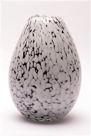 Sale 9018 - Lot 44 - An Italian Monochrome Three Colour Sommerso Glass Vase, Probably Murano, H:25cm
