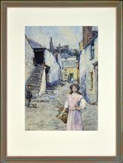 Sale 8325 - Lot 571 - Henry Meynell Rheam (1859 - 1920) - Untitled, 1910 35.5 x 25cm