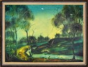 Sale 8344 - Lot 526 - Kevin Charles (Pro) Hart (1928 - 2006) - Swamp Scene 44.5 x 59.5cm