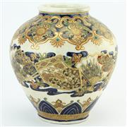 Sale 8356A - Lot 16 - Meiji Satsuma Bulbous Vase