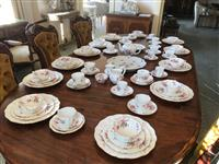 Sale 8392H - Lot 108 - Royal Crown Derby dinner service, for eleven persons with a few spares, together with a large Bavarian dinner plate