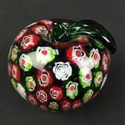 Sale 8402D - Lot 16 - Castellani Millefiori Art Glass Apple Paperweight (Height - 8cm)