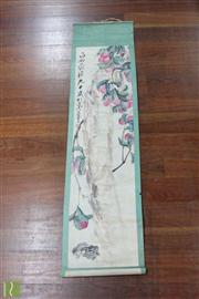 Sale 8473 - Lot 64 - Chinese Scroll Depicting Flowers