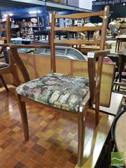 Sale 8495F - Lot 1077 - Vintage Dining Suite with 6 Chairs