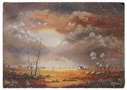 Sale 8506A - Lot 5025 - John Dynon (1954 - ) - Landscape in Earth Tones 25 x 35.5m