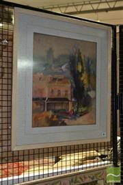 Sale 8506 - Lot 2083 - Alex McMillan Terrace Houses Watercolour (A.F.) 44 x 36.5cm